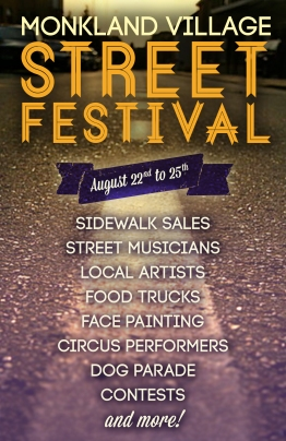 Proposed Print Ad for Local Street Festival