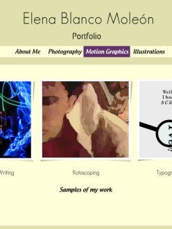 Screengrab of my first online portfolio